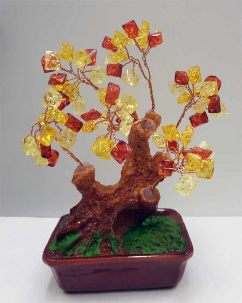 Дерево денежное из янтаря своими руками 21