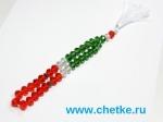 Четки 33 бусин из граненного стекла флаг Татарстана