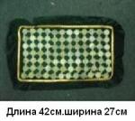 Массажный коврик с лечебными камнями нефрите