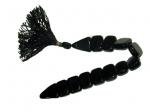 Перекидные чётки из  чёрного прессованного  агата