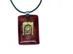 Амулет из камня сердолик  с надписью АЛЛАХ