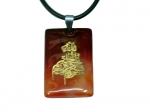Амулет из камня сердолик с надписью Бисмиллахиррахманурахим