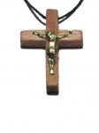 Крест деревянный в машину, размер 3,2х2,5 см.