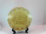 Тарелка с надписью Калима Таиба   на подставке