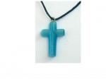 Кулон- крест  из стекла