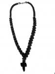 Подвеска с крестиком из черного агата