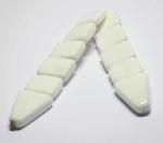 Перекидные четки из белого  прессованного агата  20-22 см.
