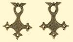 Амулет двухсторонний  Крест Туарегов