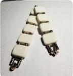 Перекидные четки из белого агата 22см.