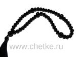 Православные четки 50 бусин 8 мм. из черного агата