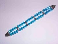 Перекидные четки из голубого граненного хрусталя 22 см