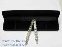 перекидные четки металлические серебряного цвета в футляре